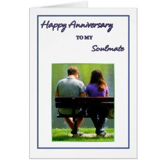Aniversário feliz a minha alma gémea cartão comemorativo