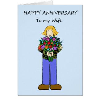 Aniversário feliz a minha esposa lésbica cartão comemorativo