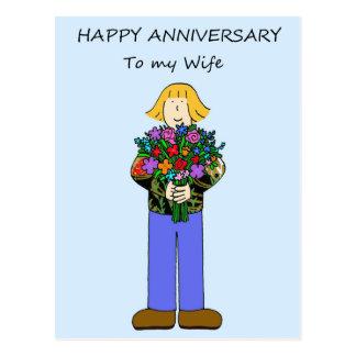 Aniversário feliz a minha esposa lésbica cartão postal