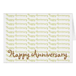 Aniversário feliz cartão comemorativo