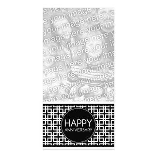 Aniversário feliz (cinderStripe) Cartão Com Foto Personalizado