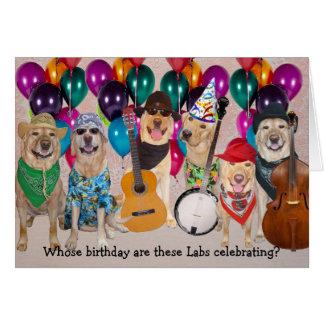 Aniversário feliz customizável do laboratório cartao