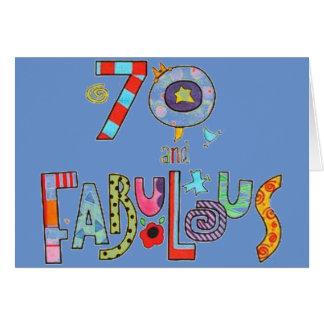 Aniversário feliz do 70 fabuloso em 70 cartão comemorativo