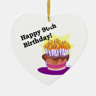 Aniversário feliz do 90! ornamento para arvores de natal