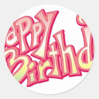Aniversário feliz do feliz aniversario adesivo