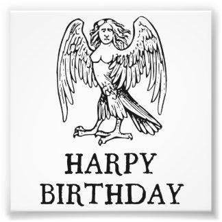 Aniversário feliz do Harpy Impressão De Foto
