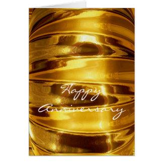 Aniversário feliz no ouro Sparkling Cartão Comemorativo