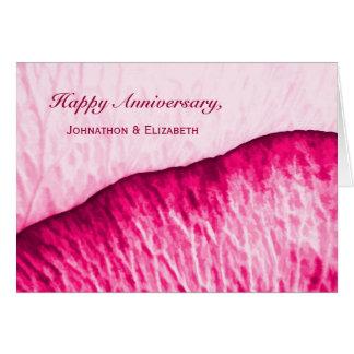 Aniversário feliz para acoplar o abstrato do rosa cartoes
