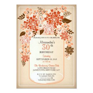 Aniversário floral rústico 2 do pergaminho do