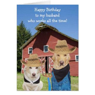 Aniversário gótico americano engraçado do marido cartão comemorativo