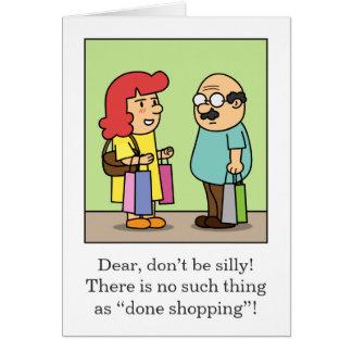 Aniversário insolente da esposa ao marido cartão comemorativo