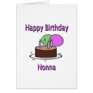 Aniversário italiano Desi da avó de Nonna do feliz Cartão