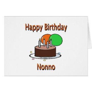 Aniversário italiano Desi do vovô de Nonno do feli Cartão