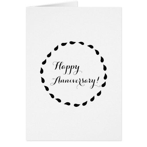Aniversário minimalista branco preto do amor cartões
