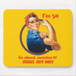Aniversário Mousepad do rebitador 50th de Rosie
