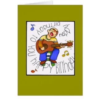 """""""aniversário musical """" cartão comemorativo"""