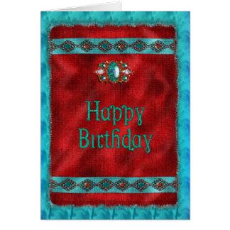 Aniversário - nativo americano - estilo do sudoest cartões