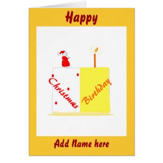 Aniversário no cartão customizável do Natal