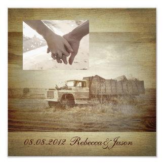 aniversário ocidental rústico do país do caminhão  impressão de foto