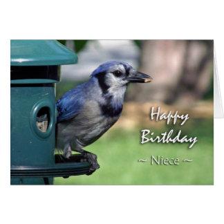 Aniversário para a sobrinha, Jay azul no Cartão Comemorativo