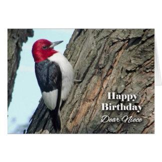 Aniversário para a sobrinha, pica-pau cartão comemorativo