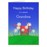 Aniversário para margaridas da avó e a lata molhan cartoes