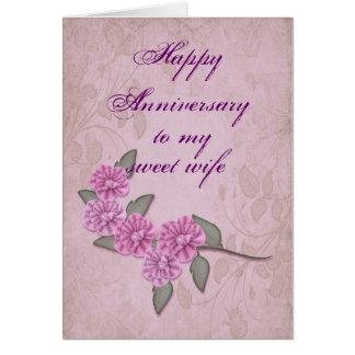 Aniversário para o cartão da esposa