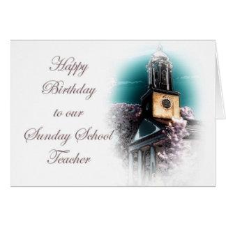 Aniversário para o professor de catequese cartão comemorativo