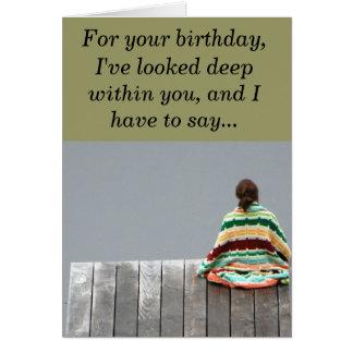 Aniversário - para seu aniversário, eu olhei o de… cartão comemorativo