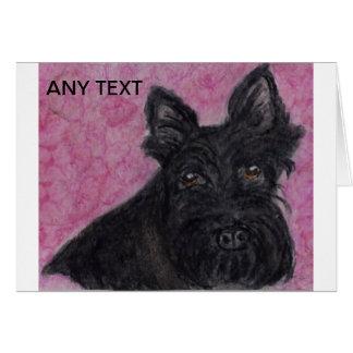 Aniversário personalizado cão do cartão de