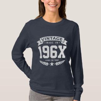 Aniversário personalizado dos anos 60 do vintage camiseta