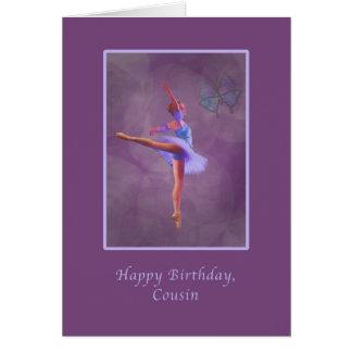 Aniversário, primo, bailarina no Arabesque