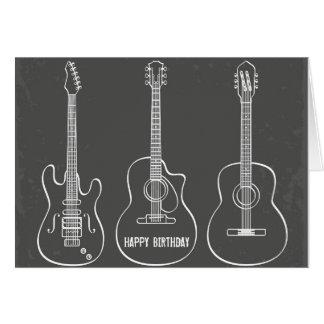 Aniversário retro da música do grunge do trio da cartão comemorativo
