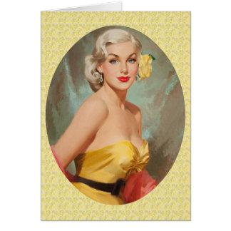 Aniversário retro dos anos 50 cartão