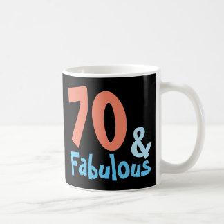 Aniversário retro preto fabuloso caneca de café