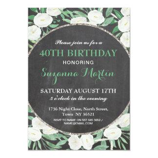 Aniversário rústico ALGUM convite do vintage da