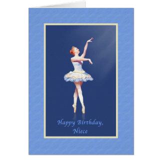Aniversário, sobrinha, bailarina em Pointe Cartão Comemorativo
