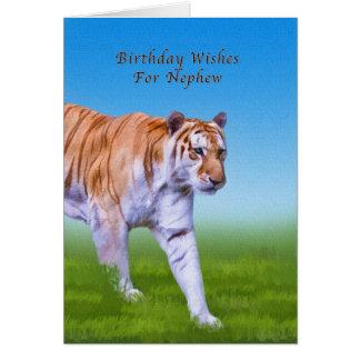 Aniversário, sobrinho, passeio do tigre cartões