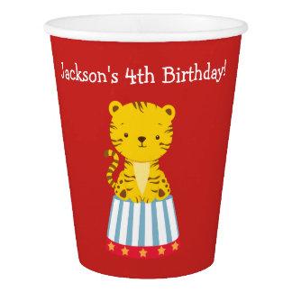 Aniversário temático dos copos do partido do circo