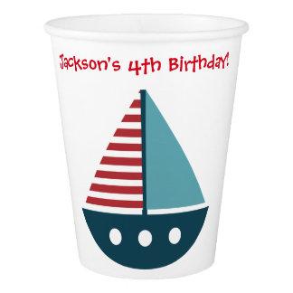 Aniversário temático náutico dos copos do partido