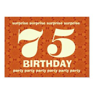 Aniversário V004 da surpresa da laranja e do ouro Convite 12.7 X 17.78cm