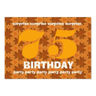 Aniversário V011 da surpresa da laranja e do ouro Convite 12.7 X 17.78cm
