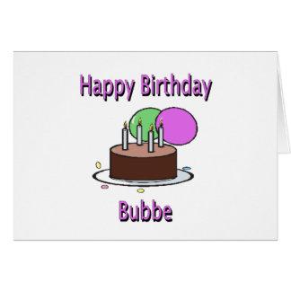 Aniversário Yiddish Desi da avó de Bubbe do feliz  Cartão