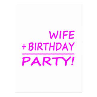 Aniversários das esposas: Esposa + Aniversário = Cartão Postal