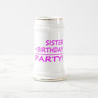Aniversários das irmãs Irmã + Aniversário parti Caneca