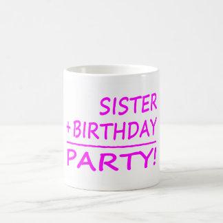 Aniversários das irmãs Irmã + Aniversário parti Canecas