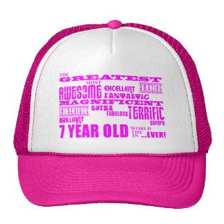 Aniversários das meninas 7os: Grande criança de 7  Boné