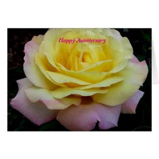 Aniversary feliz cartão comemorativo