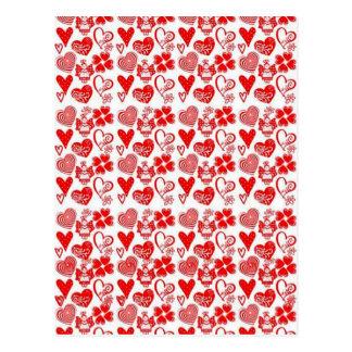 anjinhos dos corações e de COM do padrão Cartão Postal
