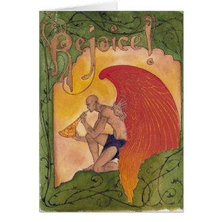 Anjo 1 do tatuagem cartão comemorativo